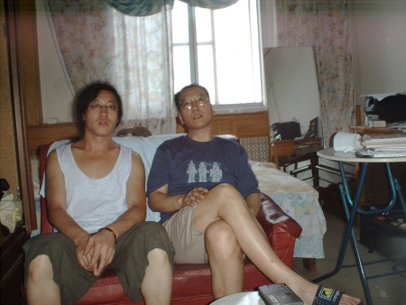 Liu Xiaobo and Bei Ling July 2000 in Beijing. By Yang Xiaobin