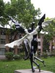 A sculpture by Liu Xiaobo's friend Mi Qiu