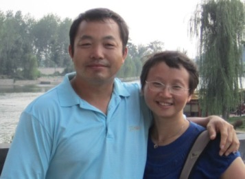 Lawyer Ding Jia and wife.