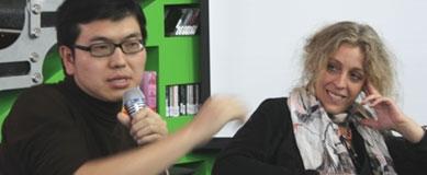 周文翰与蒂娜•于贝尔2010年在北京, 摄影:钟樾
